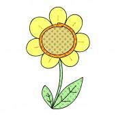 quirky comic book style cartoon daisy