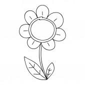 quirky line drawing cartoon daisy