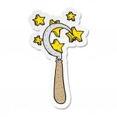 sticker of a cartoon magic sickle