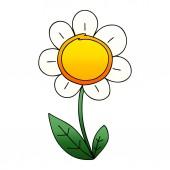 quirky gradient shaded cartoon daisy