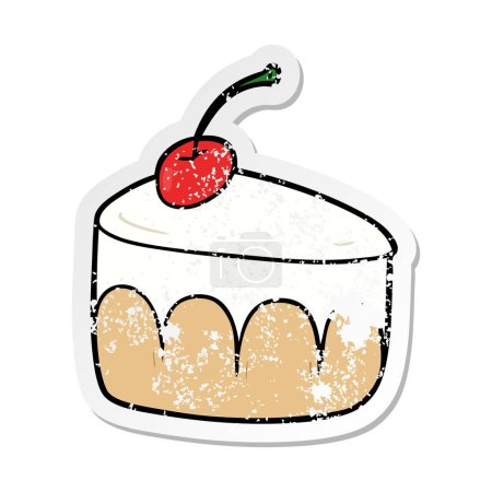 Photo for Distressed sticker of a cartoon dessert - Royalty Free Image