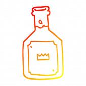 warm gradient line drawing cartoon alcoholic drink