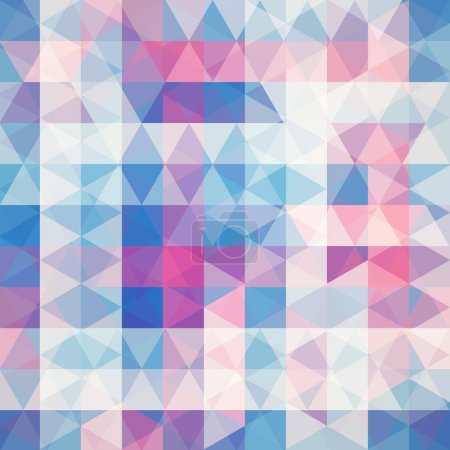 Abstract vector background with pink, blue, beige triangles. Geometric vector illustration. Creative design template.