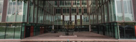Photo for Panoramic shot of glass facade of building in Copenhagen, Denmark - Royalty Free Image