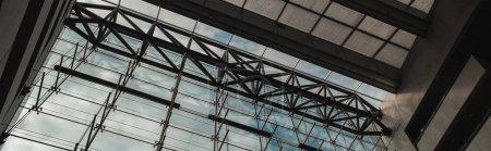 Photo for COPENHAGEN, DENMARK - APRIL 30, 2020: Horizontal image of glass facade and roof in Black Diamond Royal Library, Copenhagen, Denmark - Royalty Free Image