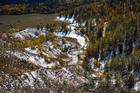 Landscapes of Altai mountains, Altai Republic, Russia.