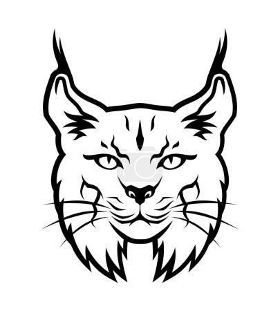 Illustration pour Illustration vectorielle de la tête de lynx . - image libre de droit