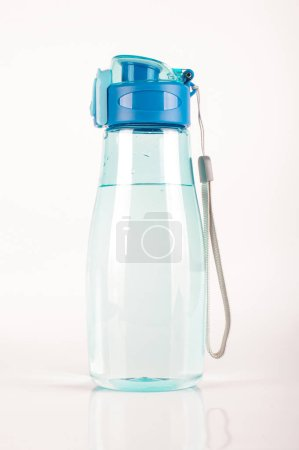 Photo for Plastic water bottle filled with water isolated on the white background - Royalty Free Image