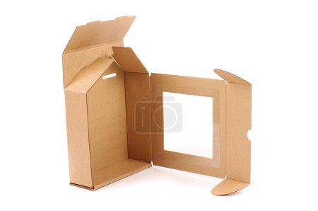 Photo pour Boîte de paquet de livraison en carton isolé sur fond blanc - image libre de droit