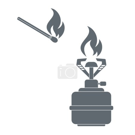 Camping stove icon vector. Vector illustration...