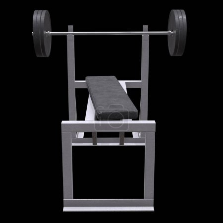 Barbell with weights. Gym equipment. Bodybuilding ...