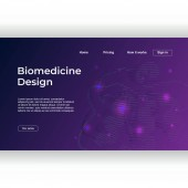 Medicine design of landing page with abstract gradient dna recombinant colorful background template Vector illustration eps 10
