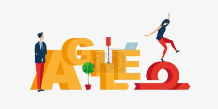 Vector colorful illustration of Agile
