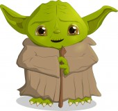 Illustration for use in the animated version the Character from the movie Star wars Yoda format EPS 10 vector