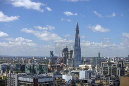 close up amazing london skyline on a  sunny day