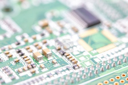 Photo for Blurred circuit board in the light like concept of technology and future micro technology and compute - Royalty Free Image