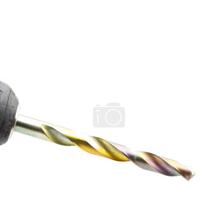 blur in the white background the rotation of a drill bit like concept of manual work  and copy space for tex