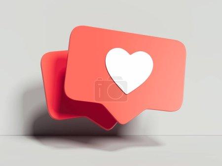 Photo pour Comme des icônes sur fond blanc, rendu 3d - image libre de droit