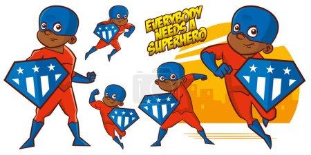 Superhero character Superheroes Set Vector