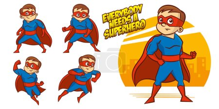 Illustration for Superheroes Set Superhero character Vector illustration design - Royalty Free Image