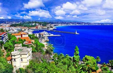 azure coast of Nice, french riviera. South of France
