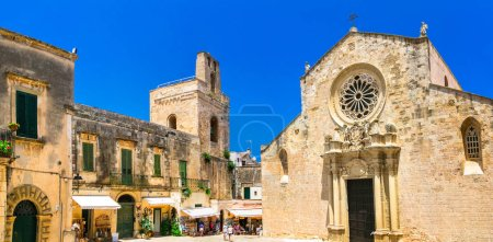 Otranto historic downtown, medieval cathedral. Puglia, Italy