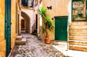 Charming  narrow streets of old town Otranto in Piglia, Italy