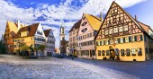 Best of Bavaria (Germany) - old town Dinkelsbuhl with traditional colorful houses.