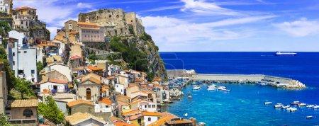best of Calabria , scenic Scilla coastal village, Italy
