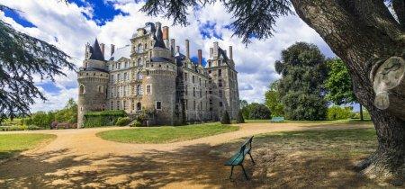 Beautiful romantic medieval castles of France - chateau de Brissac.