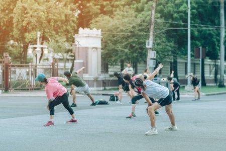 Sport, Spaß, Gruppe, schöne, glücklich, Person - B290656012