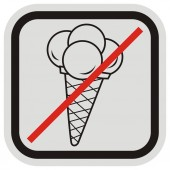 banning the entrance with ice cream vector icon ice cream at gray and black frame
