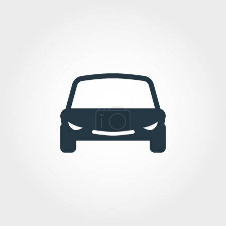 Car icon. Simple element illustration. Car pixel perfect icon design from transport collection. Using for web design, apps, software, print.