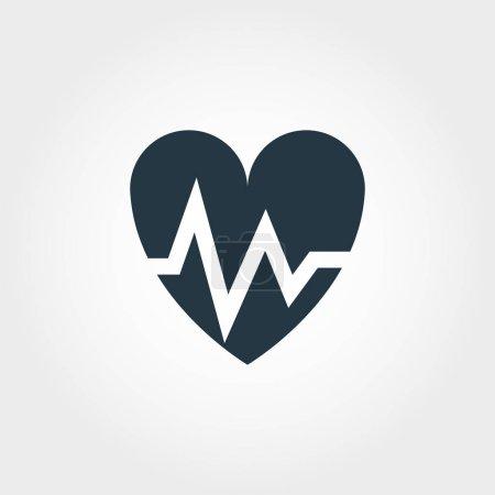 Photo pour Icône battement de cœur. Illustration d'élément simple Conception d'icône Heartbeat de la collection de médecine. Conception d'icône de style ligne. Symboles pour la conception web, applications, logiciels, impression . - image libre de droit