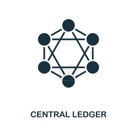 Photo for Central Ledger icon. Monochrome style design from blockchain collection. UX and UI. Pixel perfect central ledger icon. For web design, apps, software, printing usage. - Royalty Free Image