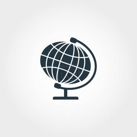 Globe icon. Premium monochrome design from education icon collection. Creative globe icon for web design and printing usage.