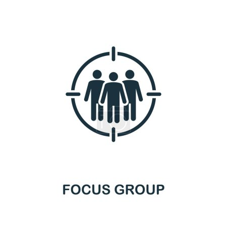 Photo for Focus Group icon. Premium style design from advertising collection. UX and UI. Pixel perfect focus group icon for web design, apps, software, printing usage. - Royalty Free Image