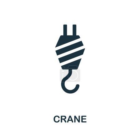 Crane icon illustration. Creative sign from constr...