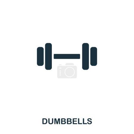 Dumbbells icon. Premium style icon design. UI. Ill...