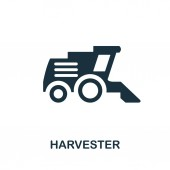 Harvester vector icon symbol Creative sign from farm icons collection Filled flat Harvester icon for computer and mobile