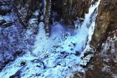 Hundafoss Waterfall in Winter, Iceland