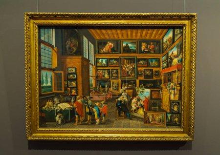 Vienna, Austria - October 22, 2017: Hans Jordaens Cabinet of curiosities (1630) in Kunsthistorisches Museum or Museum of Art History