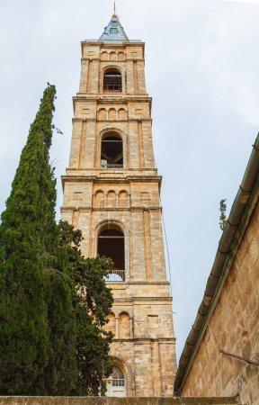 Belltower of convent of the ascension on mount of olives, Jerusalem, Israel