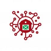 """Постер, картина, фотообои """"Фермы сети значок дизайн логотипа"""""""