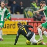 SOLNA, SWEDEN, SEPT 23, 2018: Derby between AIK an...