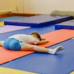 Flexible contortionist little boy, six-year-old bo...