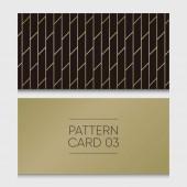 Pattern card 03 Background vector design element