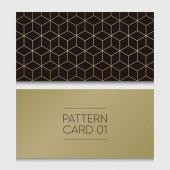 Pattern card 01 Background vector design element