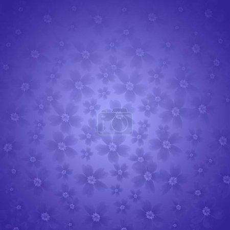 Foto de Flores primula hechas con degradado azul para el fondo. Textura abstracta. Concepto de tarjeta de felicitación. Color de lujo. Ilustración fresca y rica. - Imagen libre de derechos