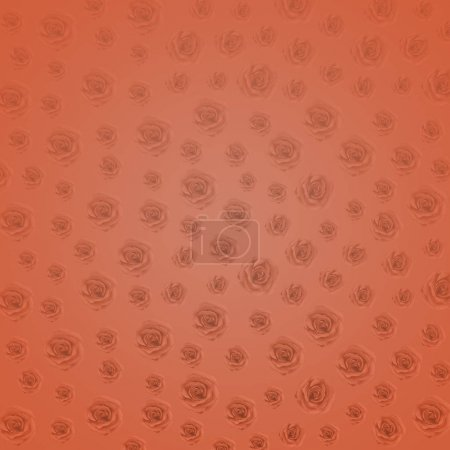 Foto de Flores de rosa hechas con degradado de mango nasturium de lujo para el fondo. Textura abstracta. Concepto de tarjeta de saludo e invitación. Ilustración fresca y rica para el día de la mujer - Imagen libre de derechos